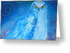 Nite Owl Greeting Card by Amy Reisland-Speer