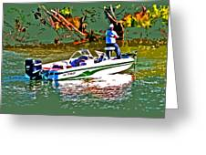 Nitro Bass Boats Greeting Card