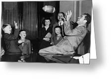 Nixon Catching Football Greeting Card