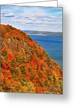 N.j. Palisades Awesome Autumn  Greeting Card