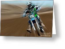 Motorcross No. 116 Greeting Card
