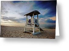 No 4 Lifeguard Station Greeting Card