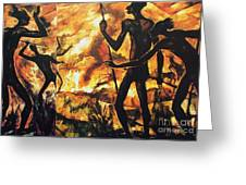No Fire For The Antelopes Greeting Card