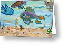 No Fishing Greeting Card by Brenda Ruark