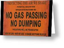 No Gas Passing Greeting Card