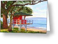 No Guard On Duty - Kamaole Beach Greeting Card