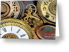 No More Time Greeting Card by Tom Gari Gallery-Three-Photography