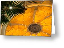 Sunshine Yellow Silk Decor With Stars Greeting Card