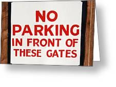 No Parking Vintage Sign Greeting Card