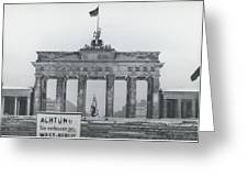 No Passing-papers For West-berlins Inhabitants Greeting Card