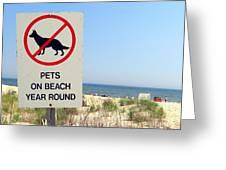 No Pets Greeting Card