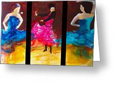 No Volre  Triptych Greeting Card