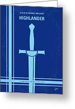 No034 My Highlander Minimal Movie Poster.jpg Greeting Card