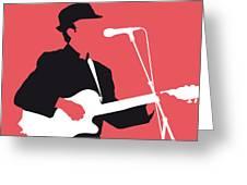 No042 My Leonard Cohen Minimal Music Greeting Card by Chungkong Art