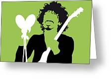 No046 My Santana Minimal Music Poster Greeting Card by Chungkong Art