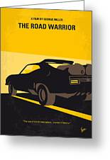 No051 My Mad Max 2 Road Warrior Minimal Movie Poster Greeting Card