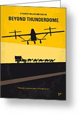 No051 My Mad Max 3 Beyond Thunderdome Minimal Movie Poster Greeting Card