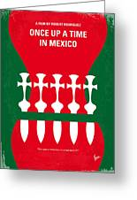 No058 My Once Upon A Time In Mexico Minimal Movie Poster Greeting Card
