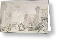 No.0613 The West Room And The Dome Room Greeting Card