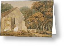 No.0735 A Country Churchyard, C.1797-98 Greeting Card