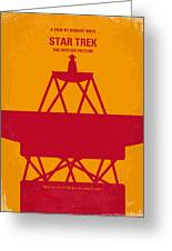 No081 My Star Trek 1 Minimal Movie Poster Greeting Card by Chungkong Art