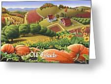 No10 Old Friends Greeting Card  Greeting Card by Walt Curlee