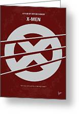 No123 My Xmen Minimal Movie Poster Greeting Card by Chungkong Art