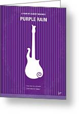 No124 My Purple Rain Minimal Movie Poster Greeting Card