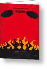 No131 My Hellboy Minimal Movie Poster Greeting Card by Chungkong Art