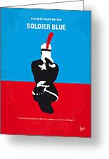 No136 My Soldier Blue Minimal Movie Poster Greeting Card