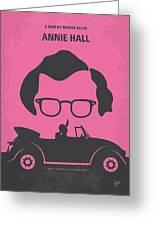 No147 My Annie Hall Minimal Movie Poster Greeting Card