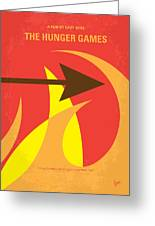 No175 My Hunger Games Minimal Movie Poster Greeting Card