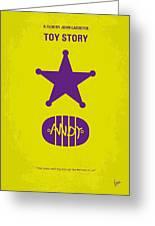 No190 My Toy Story Minimal Movie Poster Greeting Card by Chungkong Art