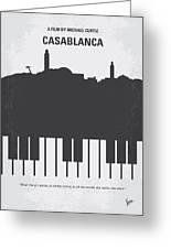 No192 My Casablanca Minimal Movie Poster Greeting Card