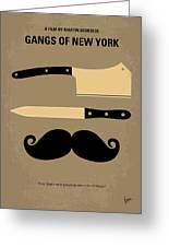 No195 My Gangs Of New York Minimal Movie Poster Greeting Card