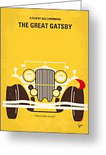 No206 My The Great Gatsby Minimal Movie Poster Greeting Card