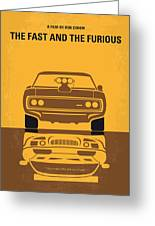 No207 My The Fast And The Furious Minimal Movie Poster Greeting Card by Chungkong Art