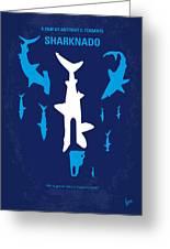 No216 My Sharknado Minimal Movie Poster Greeting Card
