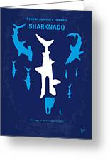 No216 My Sharknado Minimal Movie Poster Greeting Card