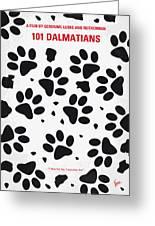 No229 My 101 Dalmatians Minimal Movie Poster Greeting Card