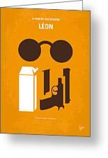 No239 My Leon Minimal Movie Poster Greeting Card