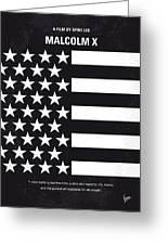 No250 My Malcolm X Minimal Movie Poster Greeting Card by Chungkong Art