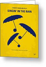 No254 My Singin In The Rain Minimal Movie Poster Greeting Card