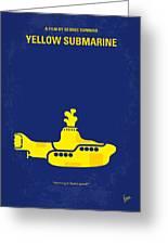 No257 My Yellow Submarine Minimal Movie Poster Greeting Card