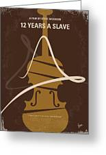 No268 My 12 Years A Slave Minimal Movie Poster Greeting Card