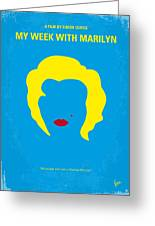 No284 My Week With Marilyn Minimal Movie Poster Greeting Card