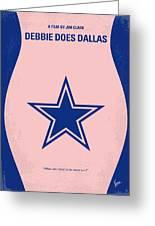 No302 My Debbie Does Dallas Minimal Movie Poster Greeting Card