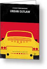 No316 My Urban Outlaw Minimal Movie Poster Greeting Card