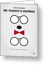 No324 My Mr Peabody Minimal Movie Poster Greeting Card