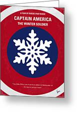 No329 My Captain America - 2 Minimal Movie Poster Greeting Card